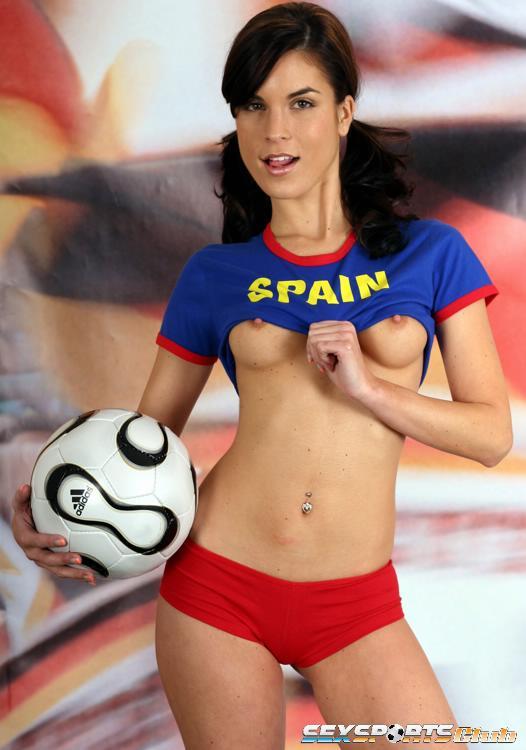 Spanish Girl In Action