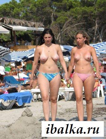 Пляжная эротика от красивых нудисток