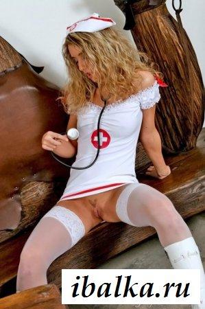 Эротика с участием белобрысой медсестры
