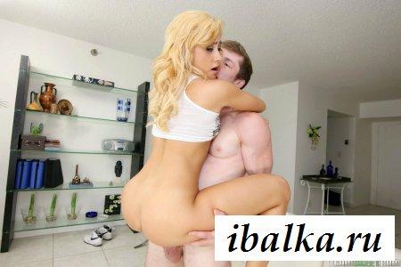 Смачно посадил на кукан блондинку - жесткий секс